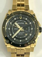 BULOVA Precisionist Quartz Diamond Black Dial Men's Watch 98D156