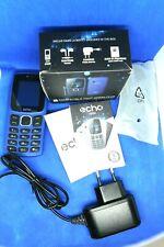 Téléphone Portable Telefon Phone GSM ECHO PRIM Bleu Unlocked 3 SIM Batterie HS