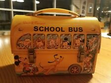 VINTAGE WALT DISNEY SCHOOL BUS LUNCHBOX AND THERMOS