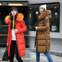 Women's Winter Slim hooded Warm Long Padded jacket Cotton jacket Coat Parka