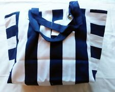 Lovely Blue and White Striped Shoulder Beach Storage Tote day bag XL Large