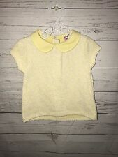 Baby Girl F&F Yellow & White Lace Top Size 6-9 Months