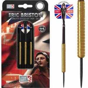 Legend Darts Eric Bristow 90% Gold Steel Tip Tungsten Ring Grip Darts Set
