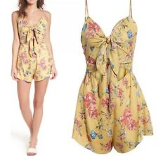 Lush Floral Romper With Double Tie Front