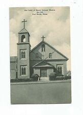 Our Lady of Mercy Colored Mission Fort Worth TX Post Card Black Americana