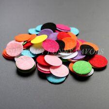 100PCS 2.5cm round felt fabric circle pads diy craft accessory flower bottom