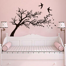Tree Wall Stickers Bird Decals Flowers Decal Branch Art Vinyl Kitchen Baby LM53