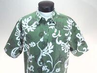 Vintage Green and White Malihini Hawaii shirt