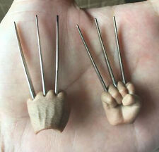 Custom Wolverine 1/6 Metal Claws for Toys Muscular Body Figure Head Sculpt 2Inch