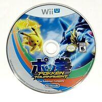 Pokémon Pokken Tournament Nintendo Wii U Disc Only Video Game Tested & Works