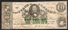 1864 US Obsolete Confederate Currency, The State of Alabama, $10 - Circ, VF*