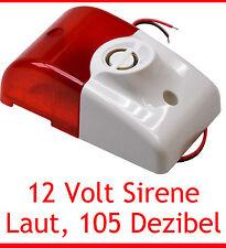 Sirena con luce allarme 105 DECIBEL 12V 12 V UV RESISTENTE LEGGERO installaiton