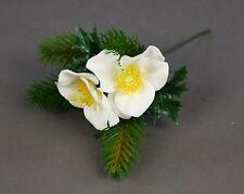 Christrosen- Tannenpick 22cm weiß PM Kunstblumen künstliche Tanne Blumen