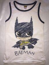 Batman Top Unter Achsel Hemd Sommer Jungen Mädchen 98 weiß blau