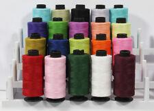 20 TS Cotton Sewing Thread Spools ( Mix Of Assorted Demanding Colors )