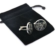 More details for masonic cufflinks freemason gift personalised engraved with own lodge number