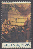 USA Briefmarke gestempelt 13c July 4 1776 / 2011