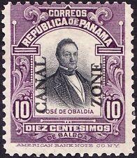 Canal Zone - 1909 - 10 Cents Violet & Black Jose de Obaldia Issue # 35 Mint VF +