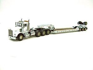 "Kenworth T800W Truck w/ 4 Axle Rogers Lowboy Trailer ""WHITE"" 1/50 - WSI #34-2026"