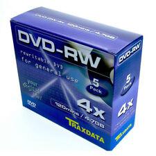 DVD-RW 4x Traxdata 904344ATRA004 Caja Jewel Pack 5 uds