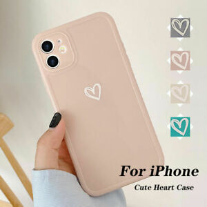 Girly Heart Phone Case For iPhone 11 13 Pro XR 8 7 SE Shockproof Soft TPU Cover