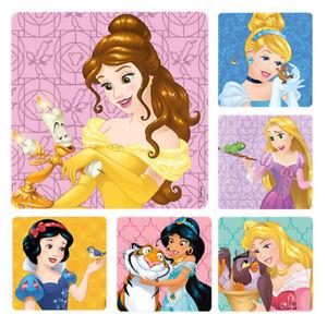 25 Disney Princess & Friends Stickers Party Favors Cinderella Jasmine Belle