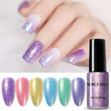 NICOLE DIARY 6ml Sweet Colors Nail Polish Sequins Holographic Nail Art Varnishes