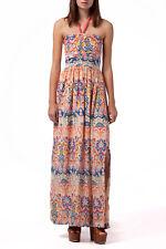 Tommy Hilfiger Denim Eileen Maxi Dress Size S (10) BNWT Strappy Blue & Orange