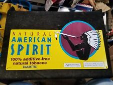 "Natural American Spirit Tobacco Yellow Cigarette Metal Sign 20-1/2"" X 10-1/2"""