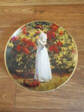 Franklin Mint Plate The Rose Garden Limited Edition By Tom Browning Collectible