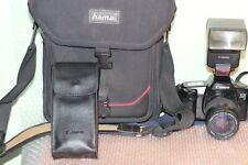 Kit Canon EOS 1000F N reflex + obiettivo lens 28-80 + borsa bag + flash AS IS