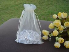 50x Ivory organza bags pouch wedding party baby shower favour bags gift 11x16cm