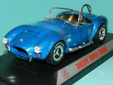Shelby Collectibles 1/18 Scale Diecast 1125 Shelby Cobra Super Snake MET Blue