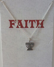 Sterling Silver Menorah Necklace