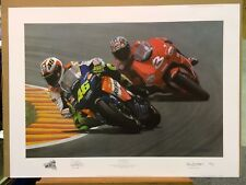 Ray Goldsbrough - Mugello Mastro (Print Only) co-signed by Valentino Rossi