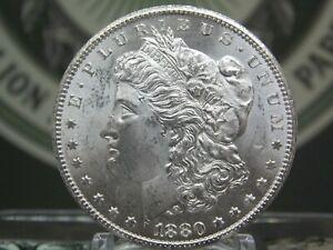 """1880 """"CC"""" Morgan Silver Dollar $1 #7 BU East Coast Coin & Collectables, Inc."""