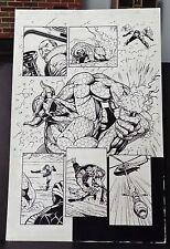 BLOODSHOT #51 PAGE 6 1996 ORIGINAL COMIC ART-FINAL ISSUE OF 1ST SERIES-SEAN CHEN