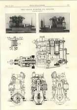 1914 Penta Marine Aceite Motor Christofferson Diesel danés