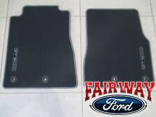 13 thru 14 Mustang OEM Genuine Ford Black Carpeted Floor Mat Set 2pc GT 500 Logo