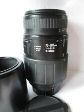 Sigma Dl Macro 70-300 mm 1:4-5:6 D, montaje de Nikon + Capucha + Tapas