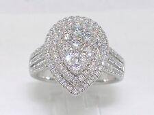 Diamant Brillant Ring 585 Weißgold 14Kt Gold 1,16ct Wesselton Si Sonderposten