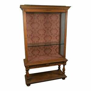 Antique French Craved Display Cabinet Top Sits on Base