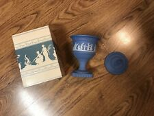 Vintage Avon Avonshire Blue Perfumed Candle Holder Decanter New