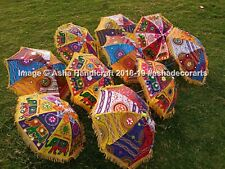 Indian Handmade Multicolored Umbrella Parasol, Ethnic Wedding Nano Size Umbrella