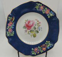 Antique Copeland Late Spode Plate Rose Center Floral Scalloped Rim England Rare