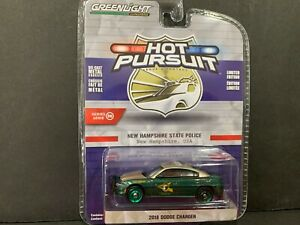 Greenlight Dodge Charger 2018 New Hampshire State Police 42930 E 1/64 CHASE