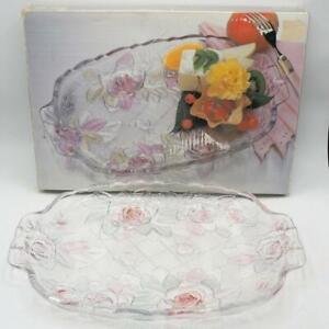 Studio Nova Beauty Rose Two-handled Serving Platter w/ Box
