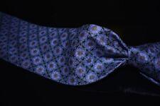 NWT #1 MENSWEAR Stefano Ricci Italy Midnight Purple Lattice Medallion Silk Tie