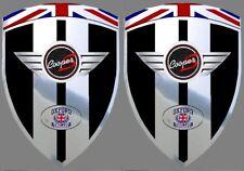 2 adhésifs sticker noir chrome MINI COOPER S   (idéal ailes avant)