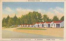 Colma CA * Millett's Auto Court  101 Highway 1940s * Tourist  San Mateo Co.